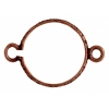 Connector - Setting 14mm 2Loop Antique Copper